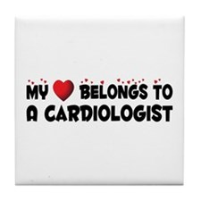 Belongs To A Cardiologist Tile Coaster