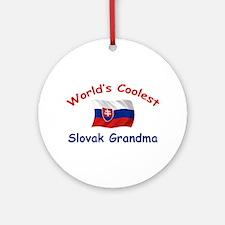 Coolest Slovak Grandma Ornament (Round)