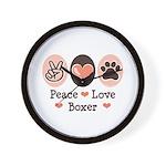 Peace Love Boxer Wall Clock