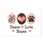 Peace Love Boxer Postcards (Package of 8)