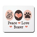 Peace Love Boxer Mousepad