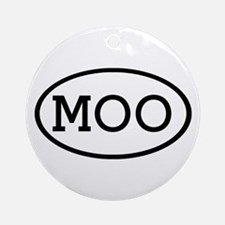 MOO Oval Ornament (Round)