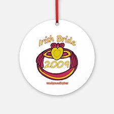 PINK CLADDAGH BRIDE 2009 Ornament (Round)