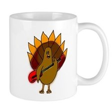 Turkey Playing Guitar Mug