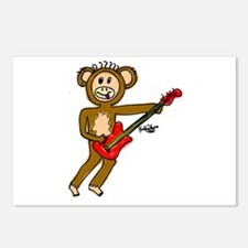 Monkey Playing Guitar Postcards (Package of 8)