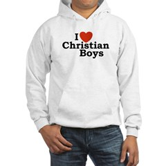 I loves Christian Boys Hoodie