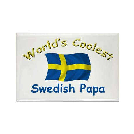Coolest Swedish Papa Rectangle Magnet
