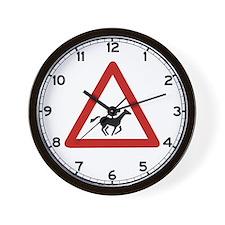 Horse Race Crossing, UAE Wall Clock