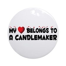 Belongs To A Candlemaker Ornament (Round)