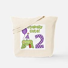 Toadally Cute 2nd Birthday Tote Bag
