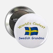 """Coolest Swedish Grandma 2.25"""" Button"""