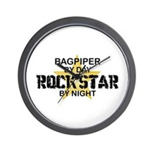 Bagpiper Rock Star Wall Clock