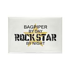 Bagpiper Rock Star Rectangle Magnet