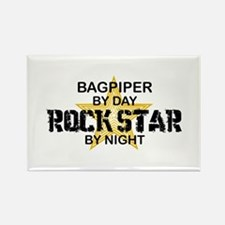 Bagpiper Rock Star Rectangle Magnet