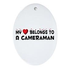 Belongs To A Cameraman Oval Ornament