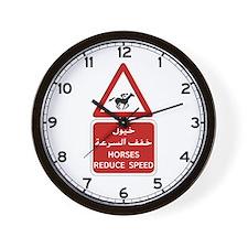 Horses Reduce Speed, UAE Wall Clock
