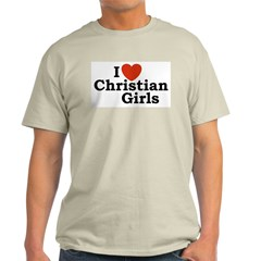 I love Christian Girls Ash Grey T-Shirt