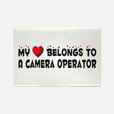 Belongs To A Camera Operator Rectangle Magnet