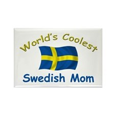 Coolest Swedish Mom Rectangle Magnet