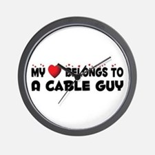 Belongs To A Cable Guy Wall Clock