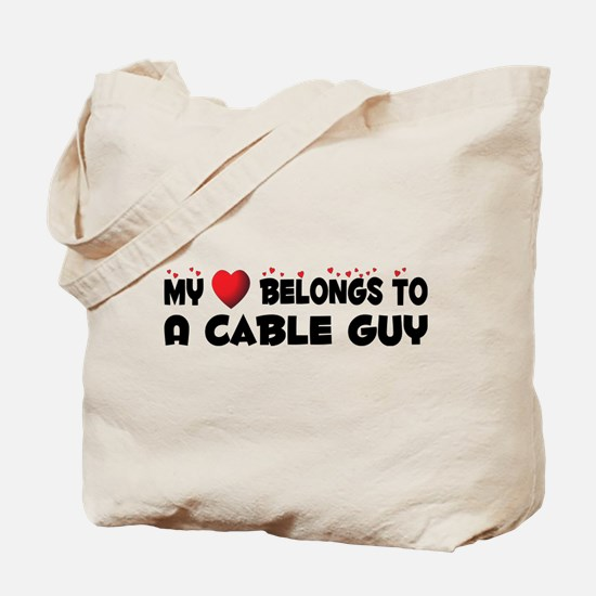 Belongs To A Cable Guy Tote Bag