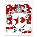 Friesen Family Crest Small Poster