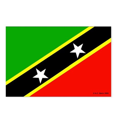 Saint Kitts & Nevis Postcards (Package of 8)