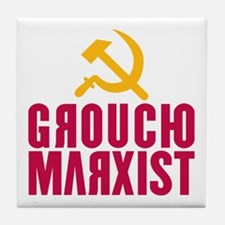 Groucho Marxist Tile Coaster