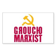 Groucho Marxist Rectangle Decal