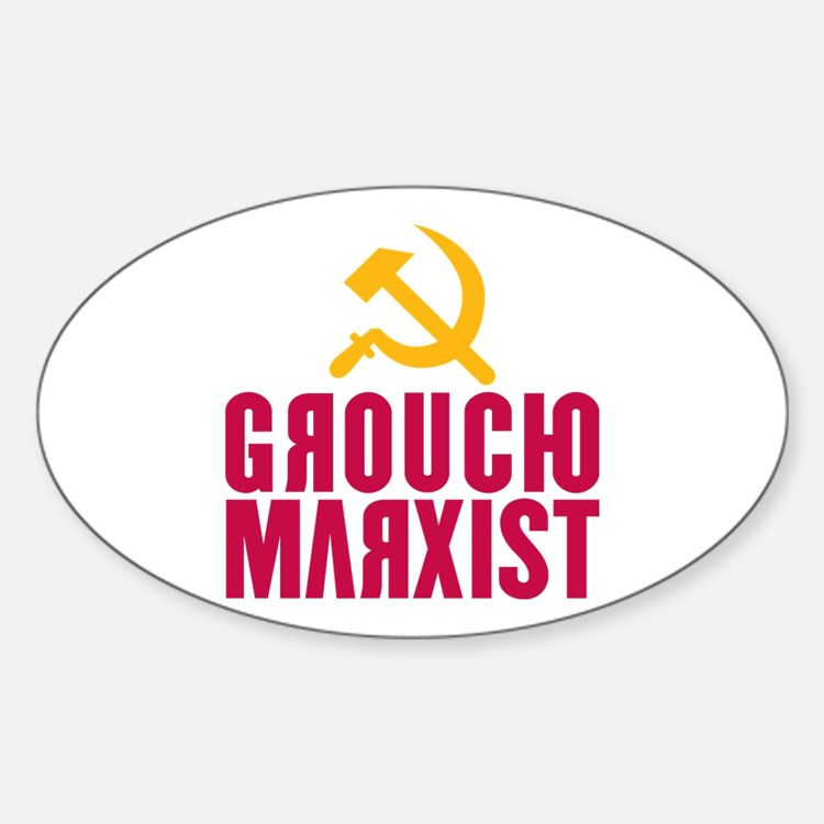 Groucho Marxist Oval Decal
