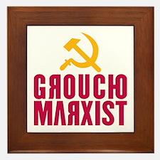 Groucho Marxist Framed Tile