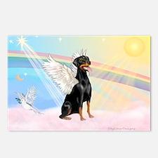 Doberman Pinscher Angel (Nat) Postcards (Package o