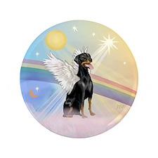 """Doberman Pinscher Angel (Nat) 3.5"""" Button"""