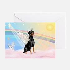 Doberman Pinscher Angel (Nat) Greeting Card