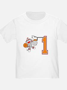 SockMonkey Hoops First Birthday T