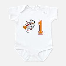SockMonkey Hoops First Birthday Infant Bodysuit