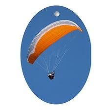 Helaine's Paragliding Ornament (Oval)