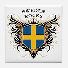 Sweden Rocks Tile Coaster