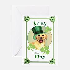 St. Patrick Yellow Lab Greeting Card