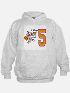 SockMonkey Hoops 5th Birthday Hoodie