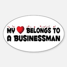 Belongs To A Businessman Oval Decal