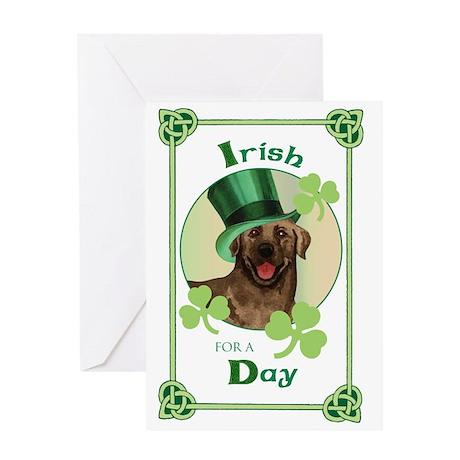 St. Patrick Chocolate Lab Greeting Card