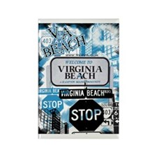 Virginia Beach 2 Rectangle Magnet