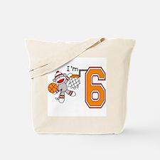 SockMonkey Hoops 6th Birthday Tote Bag