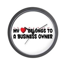 Belongs To A Business Owner Wall Clock