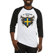 Number One Swedish Dad Baseball Jersey