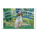 Bridge / English Setter Sticker (Rectangle)
