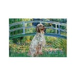 Bridge / English Setter Rectangle Magnet