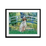 Bridge / English Setter Framed Panel Print