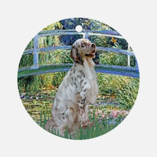 Bridge / English Setter Ornament (Round)